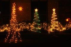 Iluminaciones de la Navidad en América Fotos de archivo