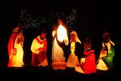 Iluminaciones de la Navidad en América Imagenes de archivo