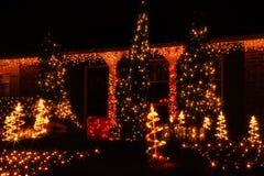 Iluminaciones de la Navidad en América Fotos de archivo libres de regalías