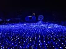 Iluminacje przy Tokio środkiem miasta zdjęcia royalty free