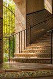 Iluminando uma escadaria, Tlaquepaque fotografia de stock
