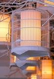 Iluminação da gaiola de pássaro Fotografia de Stock Royalty Free