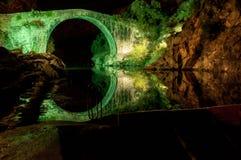 Iluminated Bridge Royalty Free Stock Images