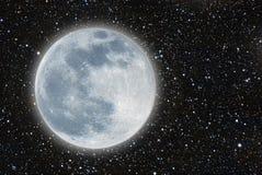 Iluminated måne Arkivfoton
