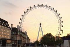 Ilumination of the London Eye Stock Photography