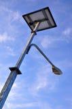 Iluminazione pubblica solare Fotografie Stock Libere da Diritti