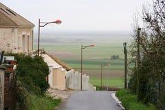 Iluminazioni pubbliche arancio graziose, Francia Immagini Stock