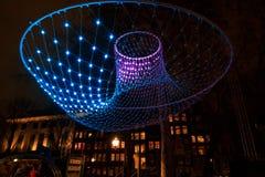 Iluminazioni pubbliche astratte luminose immagini stock