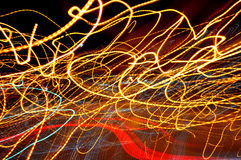Iluminazioni pubbliche astratte Immagine Stock