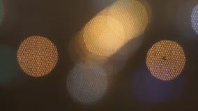 Iluminazioni pubbliche di lampeggiamento video d archivio