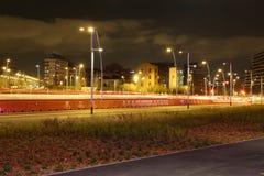 Iluminazioni pubbliche di notte Fotografie Stock Libere da Diritti