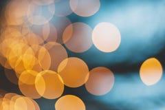 Iluminazioni pubbliche gialle Immagini Stock