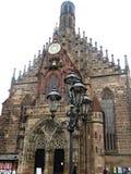 Iluminazioni pubbliche a Norimberga, Germania immagini stock libere da diritti