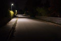 Iluminazioni pubbliche su una via abbandonata Immagini Stock Libere da Diritti