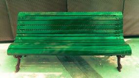 Ilumine el banco verde imagen de archivo libre de regalías