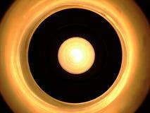 Ilumine o círculo escuro branco Fotografia de Stock Royalty Free