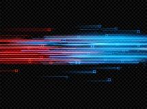 Iluminować abstrakcjonistyczne cyfrowe neonowe linie rozjarzone cząsteczki Światło laseru skutek futurystyczny wektor ilustracyjn Zdjęcie Stock