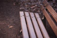 Iluminująca ławka Fotografia Stock