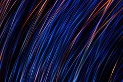 Iluminująca abstrakcjonistyczna cyfrowa fala jasne świecące cząsteczki i błyskowy lekki skutek Zdjęcia Stock