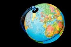 iluminująca Africa kula ziemska Europe zdjęcie stock