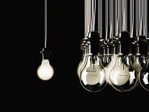 Iluminująca fluorescencyjna żarówka Zdjęcie Stock