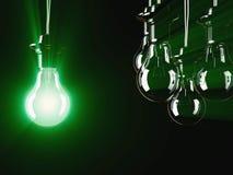Iluminująca fluorescencyjna żarówka Zdjęcie Royalty Free