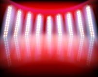 Iluminująca scena w telewizyjnym studiu również zwrócić corel ilustracji wektora ilustracja wektor