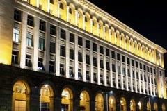 Iluminujący budynek w Sofia, Bułgaria Zdjęcia Royalty Free