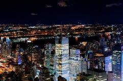 Iluminujący Nowy Jork Obrazy Stock