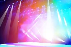 Iluminująca koncertowa scena Fotografia Stock