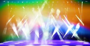 Iluminująca koncertowa scena Obrazy Stock