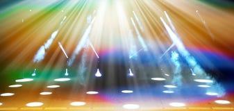 Iluminująca koncertowa scena Zdjęcia Royalty Free