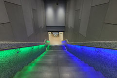Iluminujący kroki w dworcu podczas Luminale w Frank Obraz Royalty Free