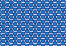 Ilusão óptica azul Foto de Stock Royalty Free