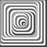 Ilusão óptica preto e branco Imagens de Stock Royalty Free