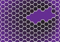 Ilusão óptica roxa Imagem de Stock