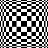 Ilusão ótica Arte do vetor 3d Efeito dinâmico da distorção Fundo mágico geométrico ilustração royalty free