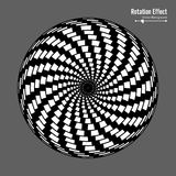 Ilusão ótica Arte do vetor 3d Efeito dinâmico da rotação Ciclo da rotação Anéis da associação do redemoinho Fundo mágico geométri ilustração royalty free