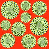 Ilusão ótica brilhante Fotografia de Stock