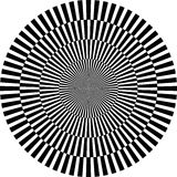 Ilusão ótica, redonda Foto de Stock