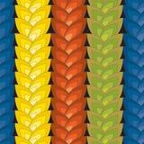 Ilusão ótica: Teste padrão sem emenda abstrato multicolorido Textura Imagens de Stock Royalty Free