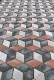 ilusão 3d óptica Imagens de Stock