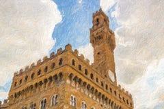Ilusão das ameias em Firenze fotos de stock