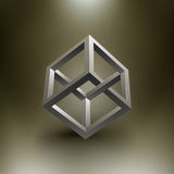 Ilusão do cubo do vetor Fotografia de Stock Royalty Free