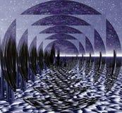 Ilusão do espaço ilustração do vetor