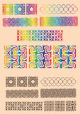 Ilusões óticas ajustadas de objetos geométricos Imagem de Stock