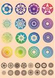 Ilusões óticas ajustadas de objetos geométricos Foto de Stock Royalty Free