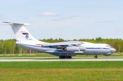 Ilushin76 a320, Flughafen Pulkovo, Russland St Petersburg im Mai 2017 Lizenzfreie Stockfotografie