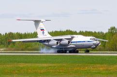 Ilushin76, Flughafen Pulkovo, Russland St Petersburg im Mai 2017 Lizenzfreie Stockfotos