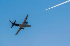 Ilushin Il-114 przy MAKS 2015 Airshow Obrazy Stock